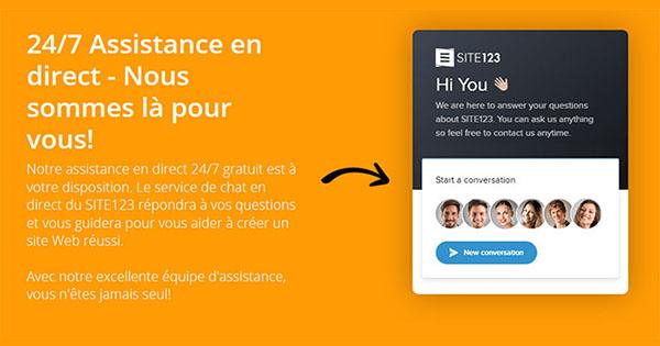 Service client Site123