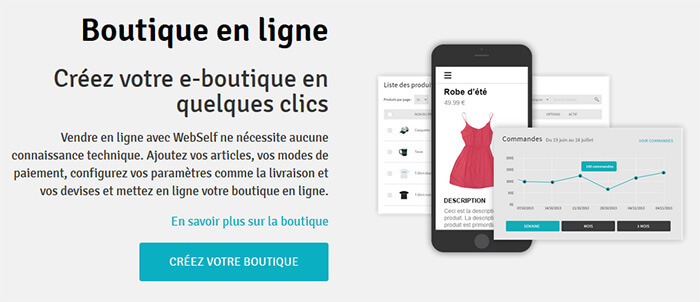 Boutique en ligne Webself