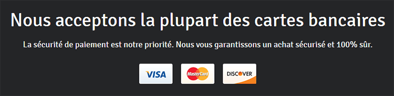 Moyens paiement Webself