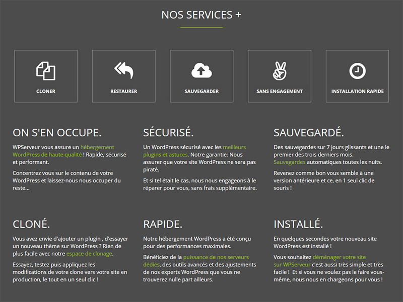 Services WPServeur