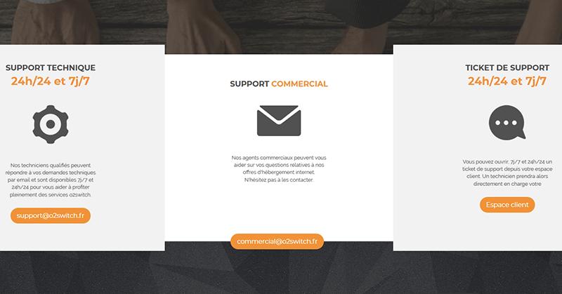 Support client hébergeur