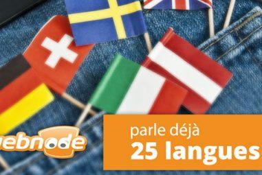 Quelles sont les langues supportées chez Webnode?