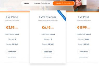 Tarification chez Ex2: quels sont les prix pratiqués?
