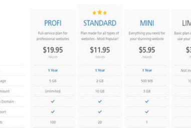 Quels sont les prix pratiqués par l'éditeur de site Webnode?